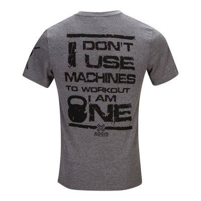 T-shirt don't use machines - Grey