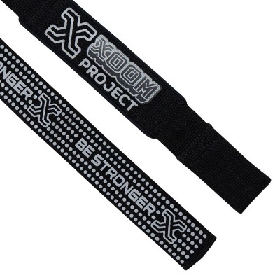 XoomProject Lifting Straps Black with silicone