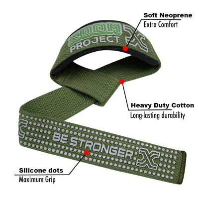 Straps XoomProject con silicona PowerLifting