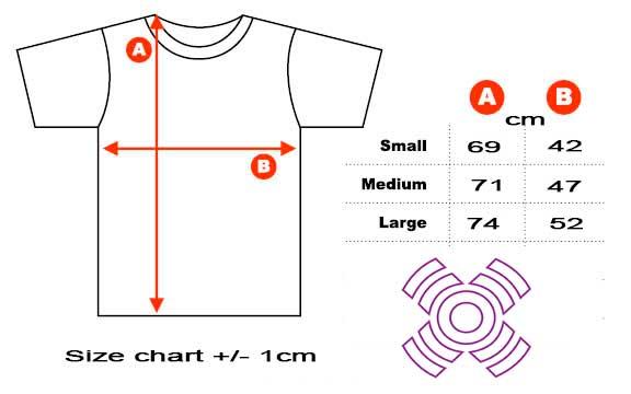 xoom project t-shirt size chart